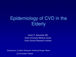 Epidemiology of CVD in the Elderly