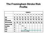 The Framingham Stroke Risk Profile