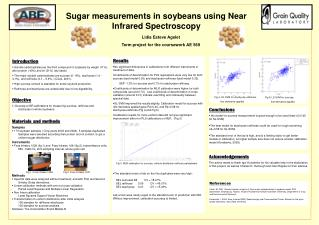 Sugar measurements in soybeans using Near Infrared Spectroscopy