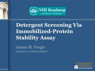 Detergent Screening Via Immobilized-Protein Stability Assay