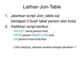 Latihan Join-Table