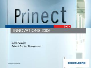 Ward Parsons Prinect Product Management
