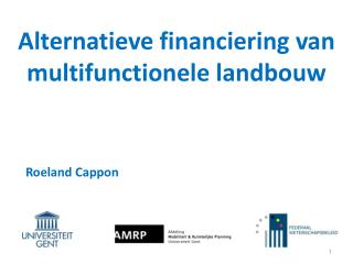Alternatieve financiering  van  multifunctionele landbouw