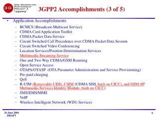 3 GPP2 Accomplishments (3 of 5)