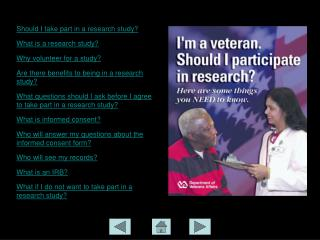 Research Participation for Veterans: Things to Know