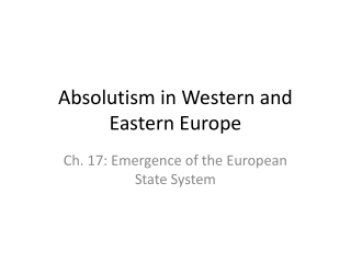 Age of Absolutism, Constitutionalism and Expansion.