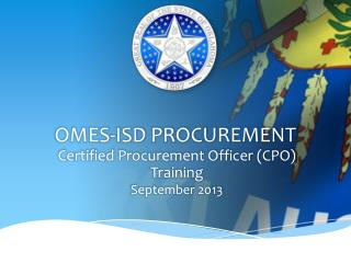 OMES-ISD PROCUREMENT