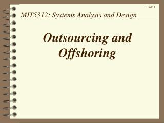 MIT5312: Systems Analysis and Design
