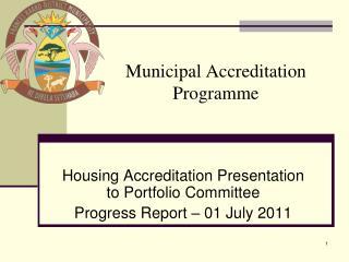 Municipal Accreditation Programme