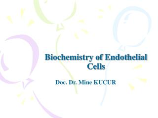 Biochemistry of Endothelial Cells