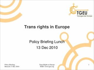 Trans rights in Europe