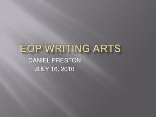 EOP WRITING ARTS