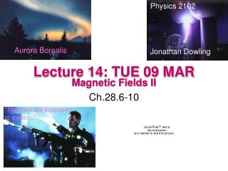 Lecture 14: TUE 09 MAR