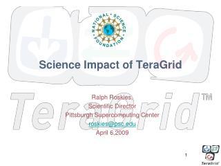 Science Impact of TeraGrid