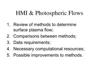 HMI & Photospheric Flows