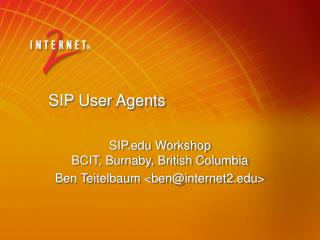 SIP User Agents