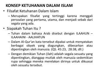 Ppt Konsep Ketuhanan Dalam Islam Powerpoint Presentation Free Download Id 3486803