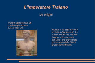 L'imperatore Traiano