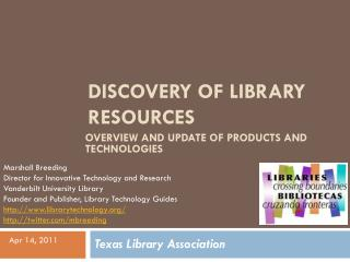 Discovery of Library Resources