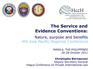 The Service and  Evidence Conventions: