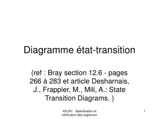 Diagramme état-transition