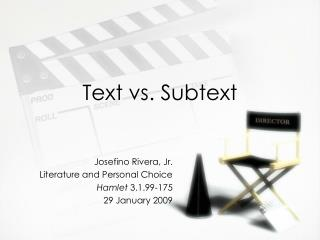 Text vs. Subtext