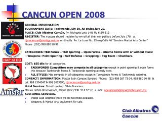 CANCUN OPEN 2008