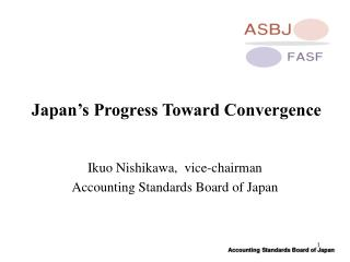 Japan's Progress Toward Convergence