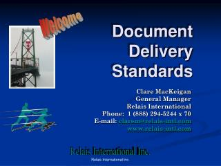 Document Delivery Standards