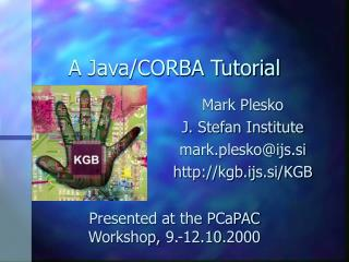 A Java/CORBA Tutorial