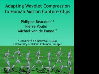 Adapting Wavelet Compression to Human Motion Capture Clips