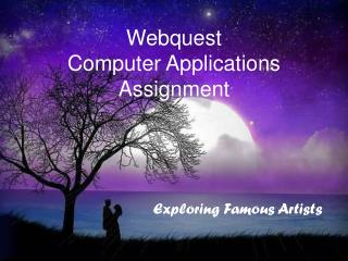 Webquest  Computer Applications Assignment