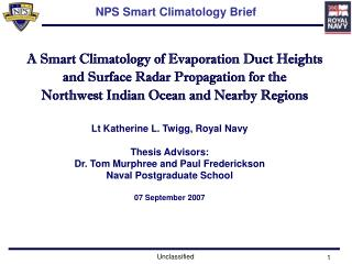 NPS Smart Climatology Brief