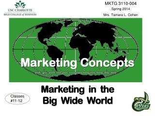 Marketing Concepts Marketing  in  the  Big  Wide  World