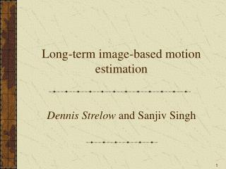 Long-term image-based motion estimation