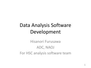 Data Analysis Software Development