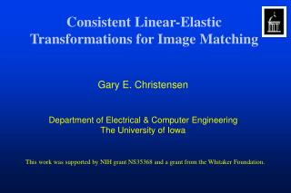 Consistent Linear-Elastic Transformations for Image Matching
