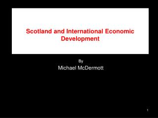Scotland and International Economic Development