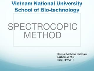 International University-Vietnam National University School of Bio-technology