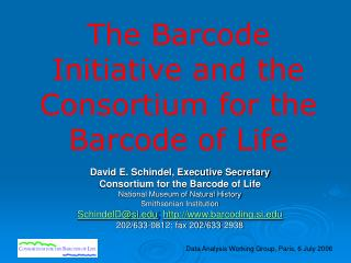 The Barcode Initiative and the Consortium for the Barcode of Life