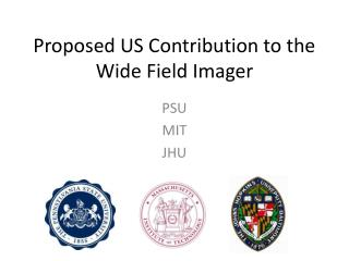 Proposed US Contribution to the Wide Field Imager