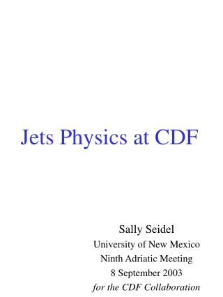 Jets Physics at CDF