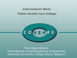 Filip Dejonckheere International & interdisciplinary programmes