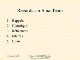 Regards sur SmarTeam