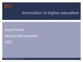 Innovation in higher education
