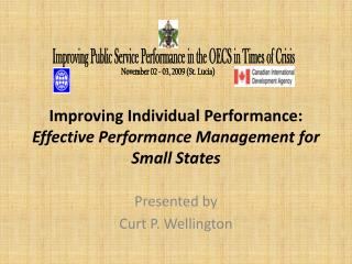 Improving Individual Performance: Effective Performance Management for Small States