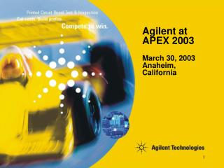 Agilent at APEX 2003
