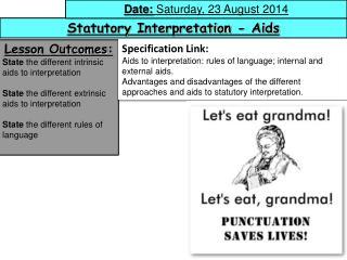 Statutory Interpretation - Aids
