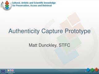 Authenticity Capture Prototype