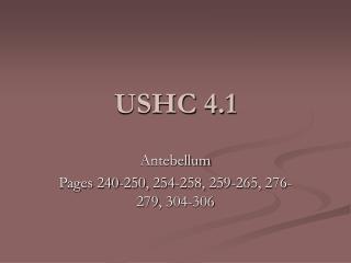USHC 4.1